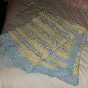 Baby blanket crocheted personally... NEVER been us